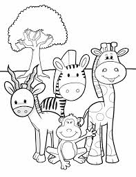 animal coloring pages for kids safari friends free printable