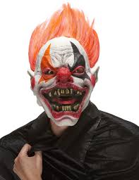 scary evil clown mask adults vegaoo