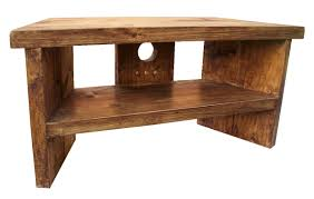 Tv Table Rustic Pine Corner Tv Stand Handmade Furniture Tv Table