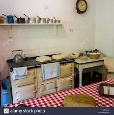 1920s Kitchen by Country Kitchen With Aga Cooker From 1920s Stock Photo Royalty