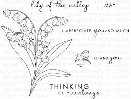 Lily Of The Valley Flower Year Of Flowers Lily Of The Valley Stamp Set Papertrey Ink Clear