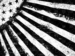 Black And White Us Flag Monochrome Negative Photocopy American Flag Royalty Free Vector