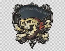 blackbeard no quarter 1718 pirate skull crossbones swords
