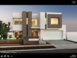 rendered white and brown 2 storey house 2 u2013storey house frontage