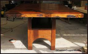 Oak Top Dining Table Copper Top Dining Table Contemporary Oak Counter Height