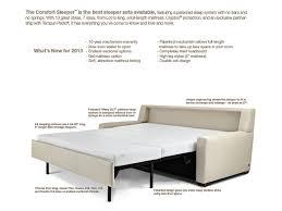 King Sleeper Sofa Bed by American Leather Comfort Sleeper Hannah Queen Plus Sofa Sleeper