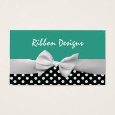 black and white polka dot ribbon ribbon and bow business cards business cards 100