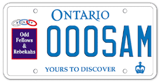 Make Your Own Vanity Plate Choose A Licence Plate Graphic Ontario Ca