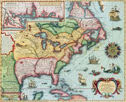 Map Of North America Map by 17th Century Map Of North America Posters U0026 Prints By Corbis