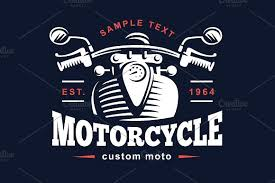 classic motorcycle emblem logo templates creative market