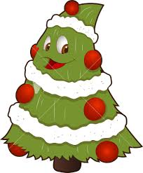 christmas tree clipart character pencil and in color christmas