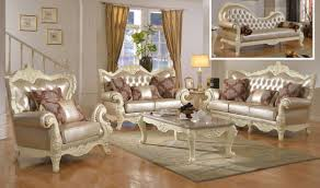 Traditional Livingroom by 674 Madrid Traditional Living Room Set In Rich Pearl White By