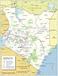Michigan County Map With Cities by Administrative Map Of Kenya Nations Online Project