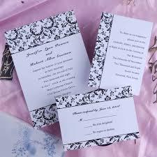 Wedding Invitation Packages Black And White Wedding Invitations Haskovo Me