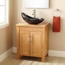 bathroom small natural wood bathroom vanity cabinet with black
