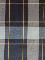 navy blue gray gold black plaid fabric apparel home decorating