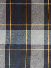 Home Decor Langley Navy Blue Gray Gold Black Plaid Fabric Apparel Home Decorating