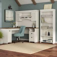 L Shaped Desk With Hutch Beachcrest Home Oakridge 3 L Shaped Desk Office Suite