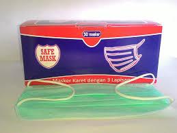 Masker Hijau 1 Box masker hijau model gantungan telinga 1 box isi 50 pcs