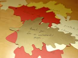 leaf shaped writing paper new thanksgiving tradition create a thankful tree hgtv paper leaves with thankful notes