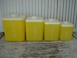 yellow canister sets kitchen 340 best canisters images on vintage kitchen kitchen