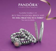 pandora jewelry retailers buy two pandora rings and get a third one for free it u0027s our