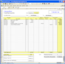 Excel Finance Templates Consulting Expense Excel Template Is An Easy To Use Expense Claim