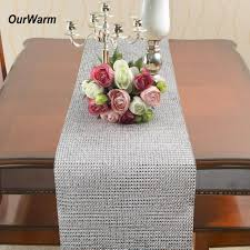 mesh ribbon table decorations ourwarm 5 yards 50 rows mesh rhinestone wrap christmas table