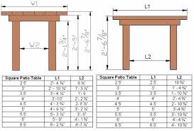 Patio Table Size Square Patio Tables Jpg