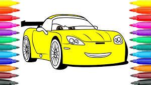 coloring cars 3 jeff gorvette coloring pages paint