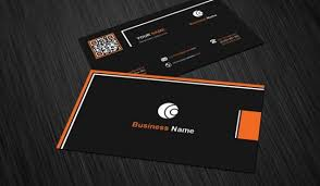 business card template with black background psd file free download