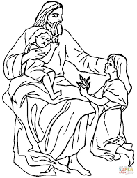 jesus and children coloring page free printable coloring pages