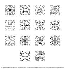 free square ornaments vector pack