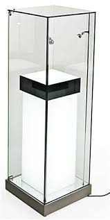 lighted display stand for glass art pedestal display stand westmontcatering com