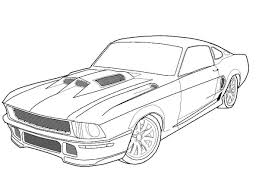 printable mustang car inside ford mustang coloring pages eson me