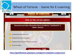 wheel fo fortune corproate e learning game template