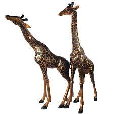 bronze giraffe sculpture set metropolitan galleries inc
