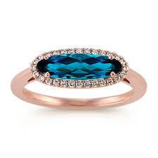 london blue topaz engagement ring oval london blue topaz and diamond ring in 14k gold shane co