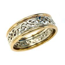 celtic gold rings images Mixed gold man 39 s celtic wedding ring by scottish jewellery jpg