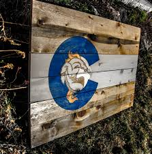Flag Of Denver Custom Colorado Woodcraft
