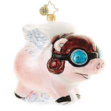christopher radko ornament 2016 radko pigs are flying pig