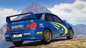 subaru sti rally car subaru impreza wrx sti 2004 world rally team livery gta5 mods com