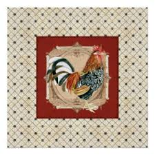 Rooster Home Decor Antique Rooster Posters Zazzle