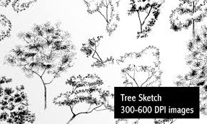 sketch trees low res by screentones on deviantart