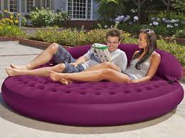 Intex Inflatable Pull Out Sofa by Inflatable Lounge Goes Indoors Out