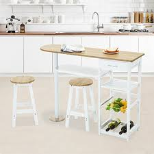 kitchen island trolley mecor kitchen island trolley cart wooden table space saver white