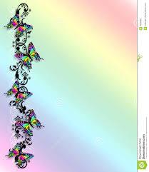 rainbow butterfly border 3d stock illustration illustration of