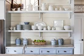 kitchen shelves decorating ideas country white painted pine wood kitchen shelves of attractive wall