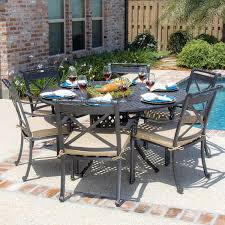 6 Chair Patio Dining Set Round Patio Dining Sets For 6 Gccourt House