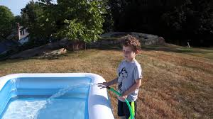 intex inflatable pool youtube